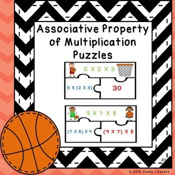 Associative Property of Multiplication Puzzles 3.OA.5