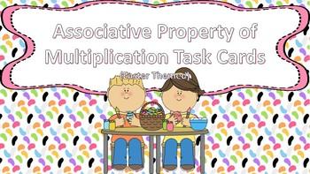 Associative Property of Multiplication Task Cards {Easter Themed}
