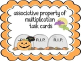 Associative Property of Multiplication Task Cards (Halloween Theme)
