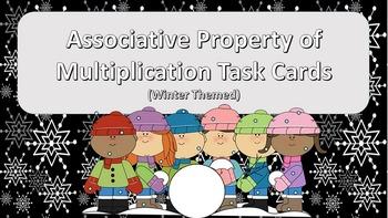Associative Property of Multiplication Task Cards {Winter Themed}