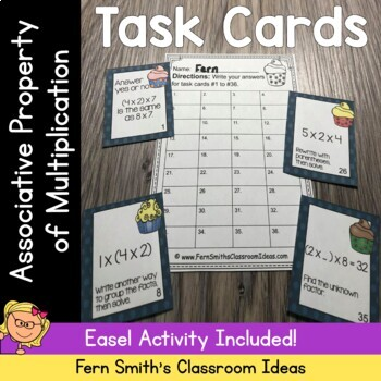 3rd Grade Go Math 4.6 Associative Property of Multiplication Task Cards