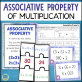 Associative Property of Multiplication Worksheets and Math Centers