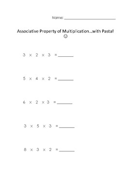 Associative Property of Multiplication with Pasta