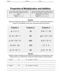 Associative and Commutative Properties
