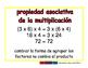 Associative of multiplication/Asociativa de mult prim 2-way blue/rojo