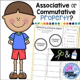 Associative or Commutative Property of Addition? Cut and Paste