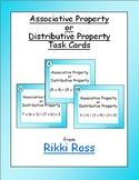 Associative or Distributive Properties Multiplication Task Cards