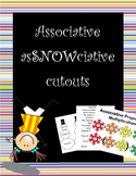 Associative property of multiplication asSNOWciative poster, rap, and cutouts