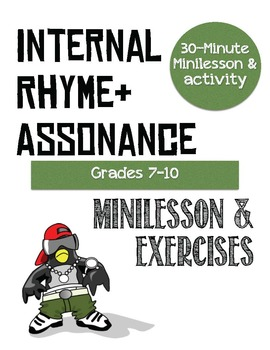 Poetry: Assonance & Internal Rhyme Lesson and Activity