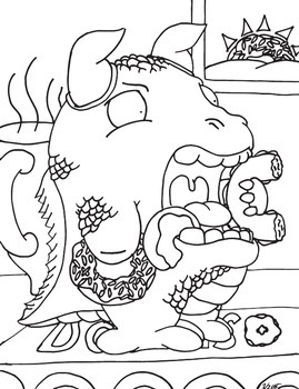 Funny Animal Coloring Book 2