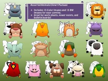 Assorted Animals Clip Art