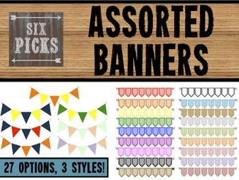 Assorted Banners {27 COLORS, 3 STYLES!}