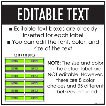 Assorted Bright Labels | EDITABLE