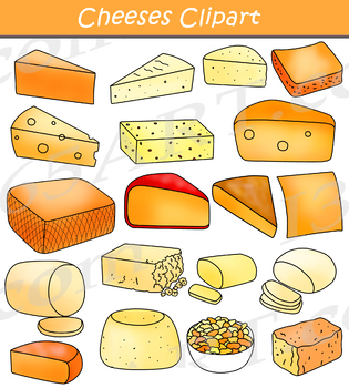 Cheese Clipart Assorted Bundle