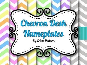Chevron Desk Nameplates FREEBIE!