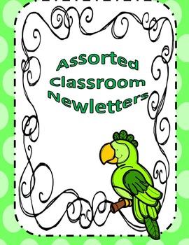 Assorted Classroom Newsletters Editable
