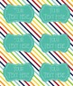 Chevron, Polka dot, & Stripes Editable LARGE Avery Labels (15264) 6 Per Page