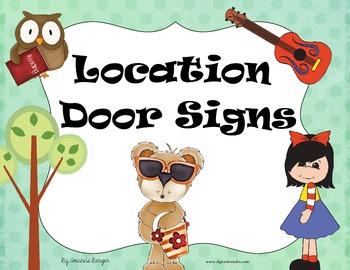 Assorted Door Signs