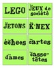 Assorted French labels