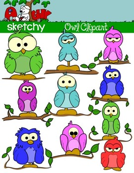 OWL / BIRD Assorted Fun Clipart