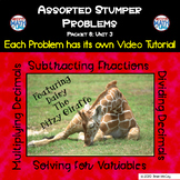 Assorted Homework Problems with video tutorials 8.3 (Dista