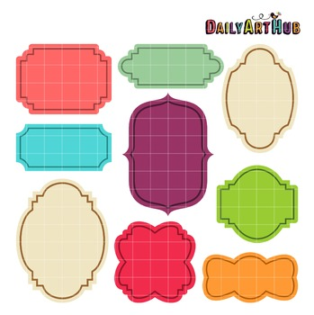 Assorted Labels Clip Art - Great for Art Class Projects!