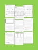 Assorted Lined Writing Templates and Graphic Organizers