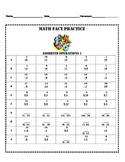 Assorted Operation Math Fact Practice - set of three