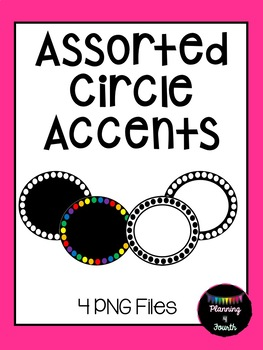 Assorted Rainbow Accents-Clipart