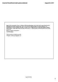 Assorted Smartboard math activities