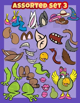 Assorted clip art, smilies set 3