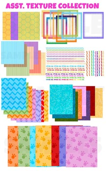 Assorted textures , borders and frames