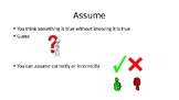 Assuming Lesson PowerPoint