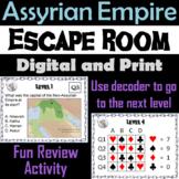 Assyrian Empire: Escape Room - Social Studies (Ancient Mesopotamia Activity)