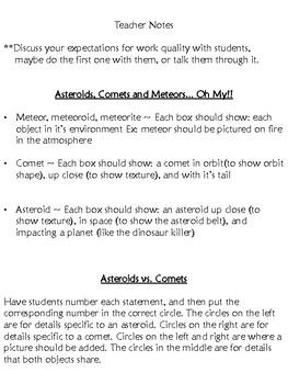 Asteroid, Comet, & Meteor Practice