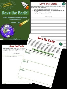 Space Math Activity Bundle: Real World Math (Fractions, Ratios, and Geometry)
