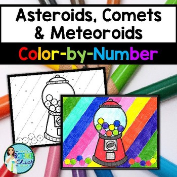 Asteroids, Comets & Meteoroids Color-by-Number