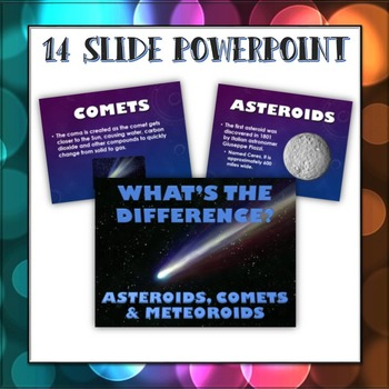 Asteroids, Comets and Meteoroids - What's the Difference? - PowerPoint