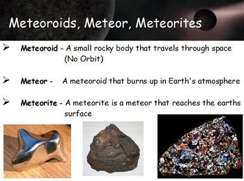 Astronomy - Asteroids, Comets and Meteors w/worksheet (SMART BOARD)