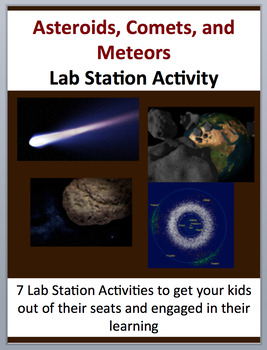 Asteroids, Comets and Meteors - 7 Lab Station Activities