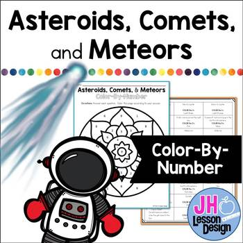 Asteroids, Comets and Meteors: Color-By-Number
