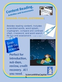 Asteroids, Comets, and Meteors Content Reading with Activities