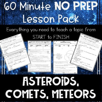 Asteroids Comets and Meteors NO PREP Lesson