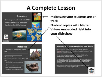 Asteroids, Comets, and Meteors - Complete 5E Lesson Bundle