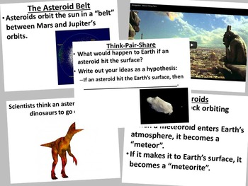 Asteroids, Meteoroids, Comets, and Moons