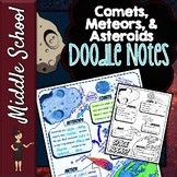 Asteroids, Meteors, and Comets Doodle Notes | Science Dood