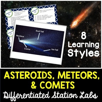 Asteroids Meteors Comets Student-Led Station Lab