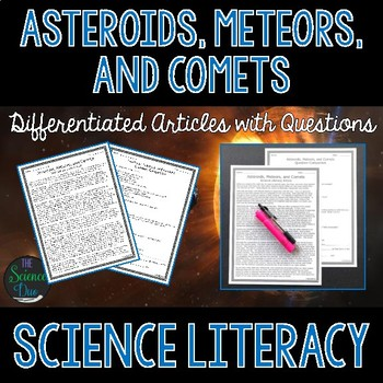Asteroids, Meteors, and Comets - Science Literacy Article