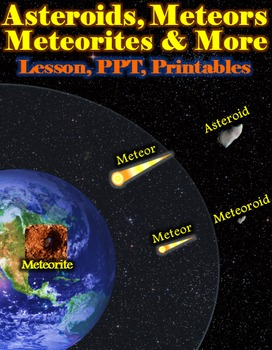 Asteroids vs. Meteors & More (Lesson, Powerpoint, and Printables)