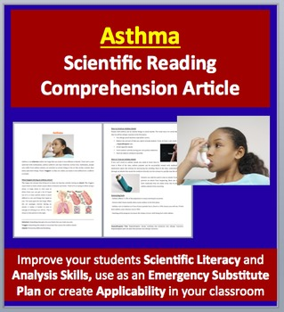 Asthma and Asthma Attacks - Science Reading Article - Grades 5-7